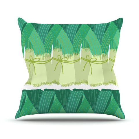 "Laura Nicholson ""Leeks"" Outdoor Throw Pillow - KESS InHouse  - 1"