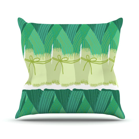 "Laura Nicholson ""Leeks"" Throw Pillow - KESS InHouse  - 1"