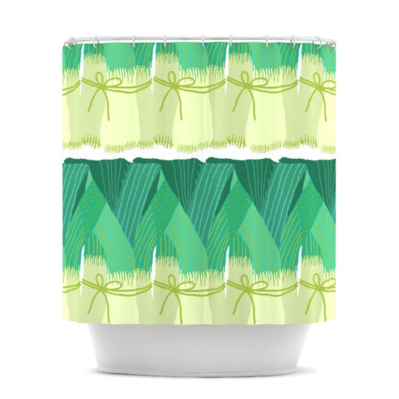 "Laura Nicholson ""Leeks"" Shower Curtain - KESS InHouse"