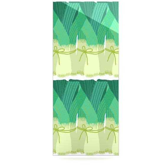 "Laura Nicholson ""Leeks"" Luxe Rectangle Panel - KESS InHouse  - 1"