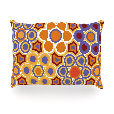 "Laura Nicholson ""Flower Garden"" Oblong Pillow - KESS InHouse"
