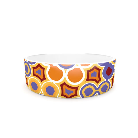 "Laura Nicholson ""Flower Garden"" Pet Bowl - KESS InHouse"