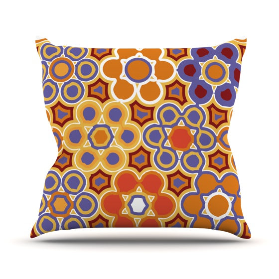 "Laura Nicholson ""Flower Garden"" Throw Pillow - KESS InHouse  - 1"