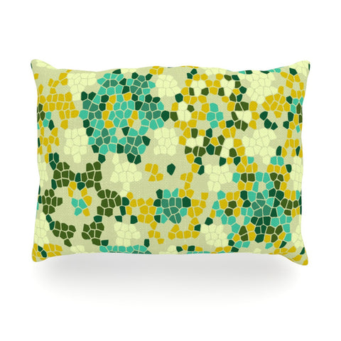 "Laura Nicholson ""Flower Garden Mosaic"" Oblong Pillow - KESS InHouse"