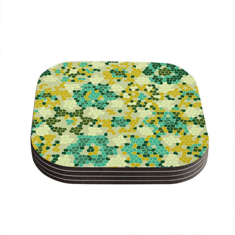 "Laura Nicholson ""Flower Garden Mosaic"" Coasters (Set of 4)"