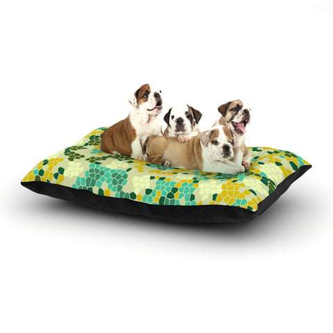 "Laura Nicholson ""Flower Garden Mosaic"" Dog Bed - KESS InHouse  - 1"