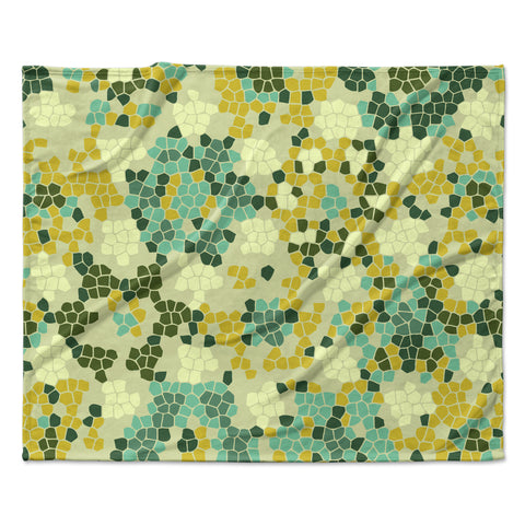 "Laura Nicholson ""Flower Garden Mosaic"" Fleece Throw Blanket"