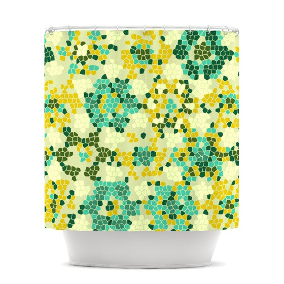 "Laura Nicholson ""Flower Garden Mosaic"" Shower Curtain - KESS InHouse"
