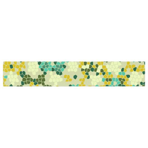 "Laura Nicholson ""Flower Garden Mosaic"" Table Runner - KESS InHouse  - 1"