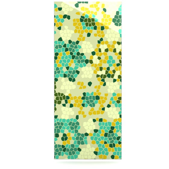 "Laura Nicholson ""Flower Garden Mosaic"" Luxe Rectangle Panel - KESS InHouse  - 1"