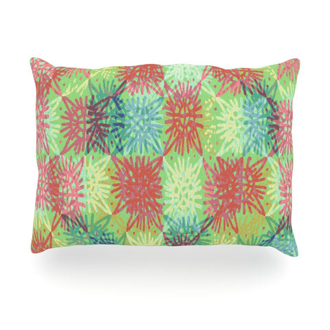 "Laura Nicholson ""Multi Lacy"" Oblong Pillow - KESS InHouse"