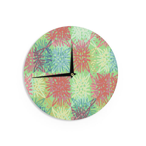"Laura Nicholson ""Multi Lacy"" Wall Clock - KESS InHouse"