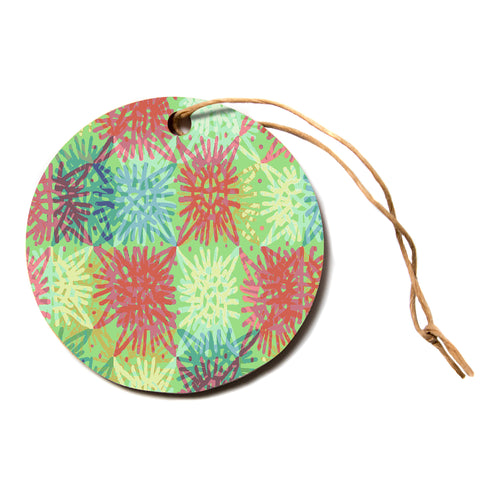 "Laura Nicholson ""Multi Lacy""  Circle Holiday Ornament"