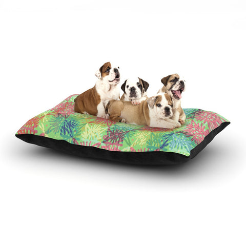 "Laura Nicholson ""Multi Lacy"" Dog Bed - KESS InHouse  - 1"
