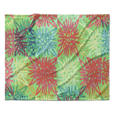 "Laura Nicholson ""Multi Lacy"" Fleece Throw Blanket"