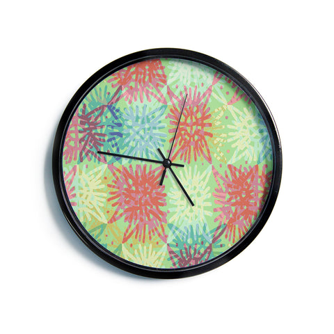 "Laura Nicholson ""Multi Lacy""  Modern Wall Clock"