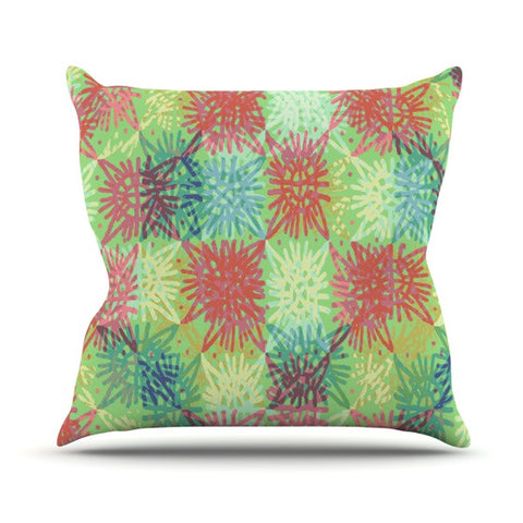 "Laura Nicholson ""Multi Lacy"" Outdoor Throw Pillow - KESS InHouse  - 1"