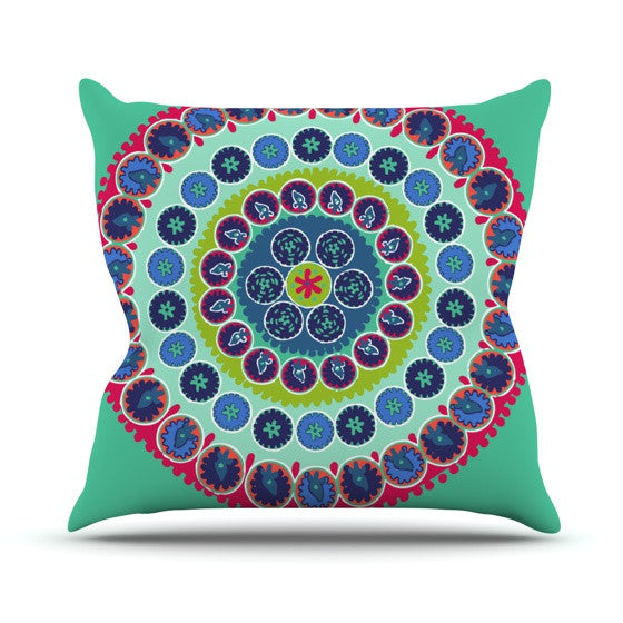 "Laura Nicholson ""Surkhandarya"" Outdoor Throw Pillow - KESS InHouse  - 1"