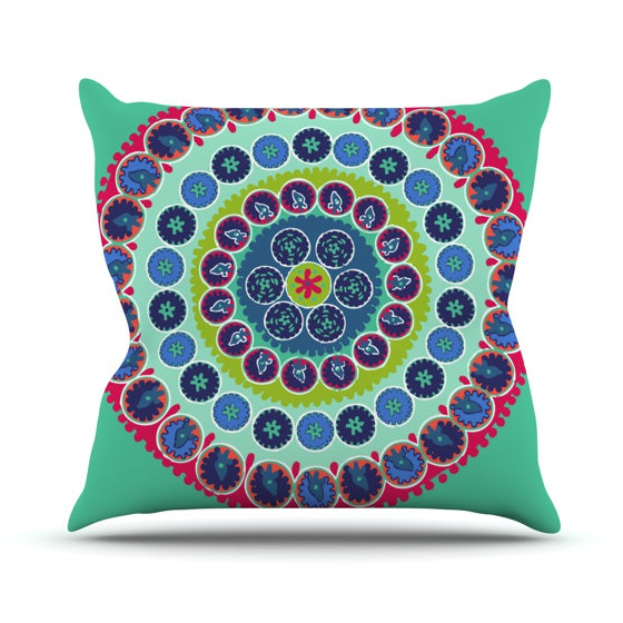 "Laura Nicholson ""Surkhandarya"" Throw Pillow - KESS InHouse  - 1"