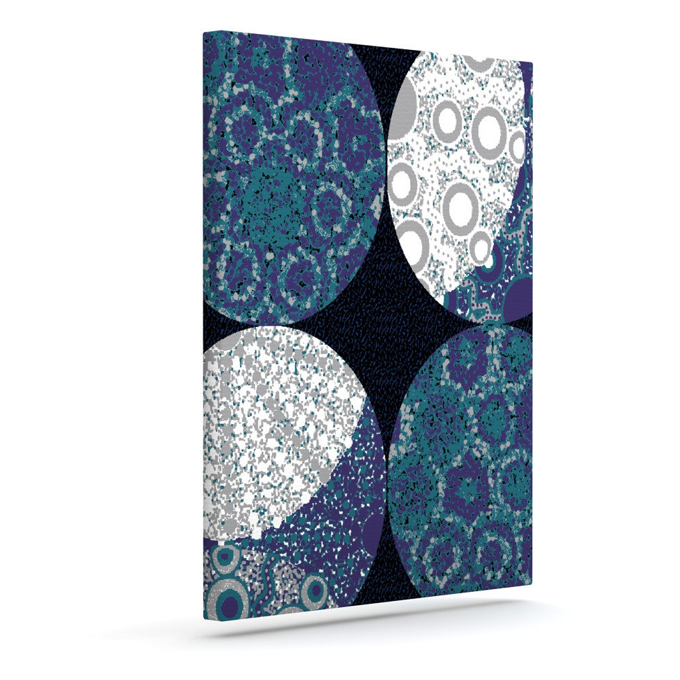 "Laura Nicholson ""Moons"" Blue Gray Canvas Art - KESS InHouse  - 1"