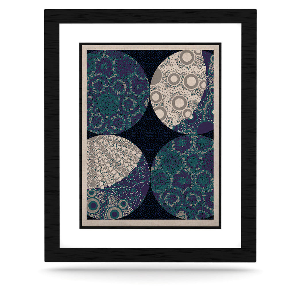 "Laura Nicholson ""Moons"" Blue Gray KESS Naturals Canvas (Frame not Included) - KESS InHouse  - 1"