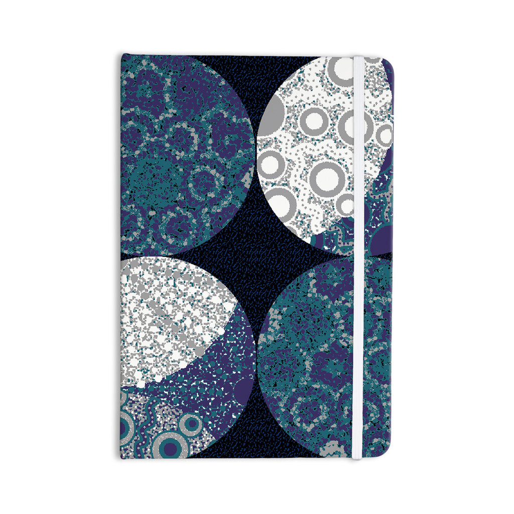 "Laura Nicholson ""Moons"" Blue Gray Everything Notebook - KESS InHouse  - 1"