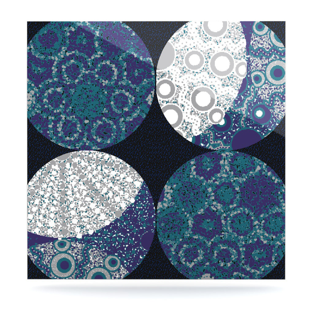 "Laura Nicholson ""Moons"" Blue Gray Luxe Square Panel - KESS InHouse  - 1"