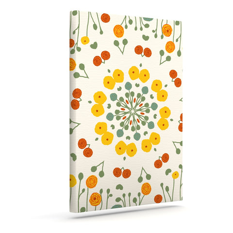 "Laura Nicholson ""Ranunculas"" Floral Yellow Canvas Art - KESS InHouse  - 1"