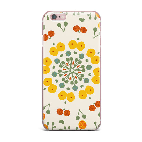 "Laura Nicholson ""Ranunculas"" Floral Yellow iPhone Case - KESS InHouse"