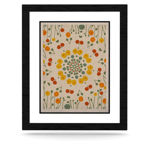 "Laura Nicholson ""Ranunculas"" Floral Yellow KESS Naturals Canvas (Frame not Included) - KESS InHouse  - 1"