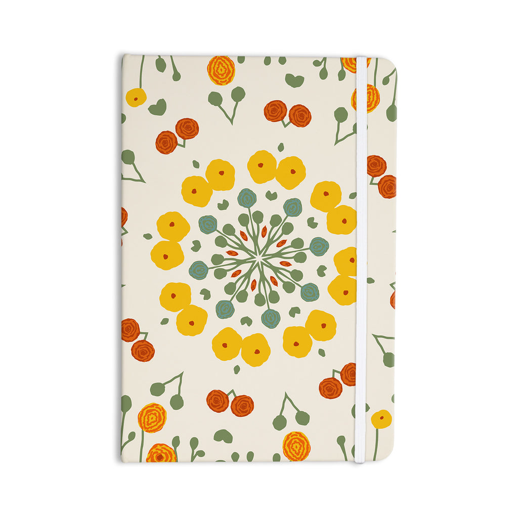 "Laura Nicholson ""Ranunculas"" Floral Yellow Everything Notebook - KESS InHouse  - 1"