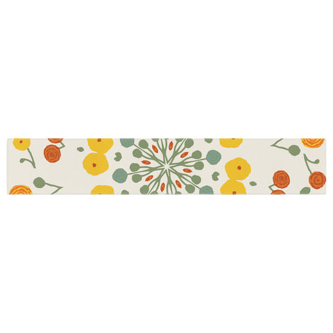 "Laura Nicholson ""Ranunculas"" Floral Yellow Table Runner - KESS InHouse  - 1"