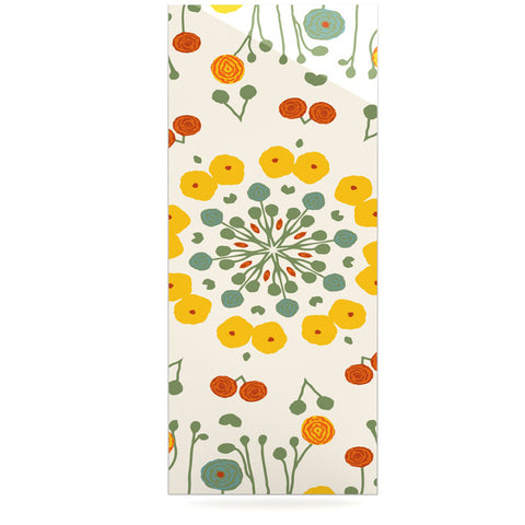 "Laura Nicholson ""Ranunculas"" Floral Yellow Luxe Rectangle Panel - KESS InHouse  - 1"