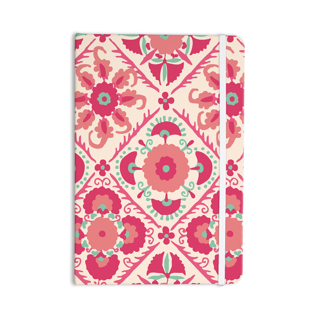 "Laura Nicholson ""Bukhara Coral"" Pink Floral Everything Notebook - KESS InHouse  - 1"