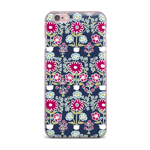 "Laura Nicholson ""Turkish Vase"" Navy Magenta iPhone Case - KESS InHouse"