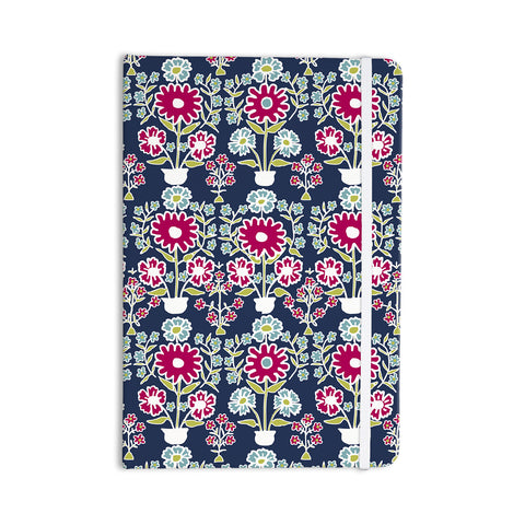 "Laura Nicholson ""Turkish Vase"" Navy Magenta Everything Notebook - KESS InHouse  - 1"