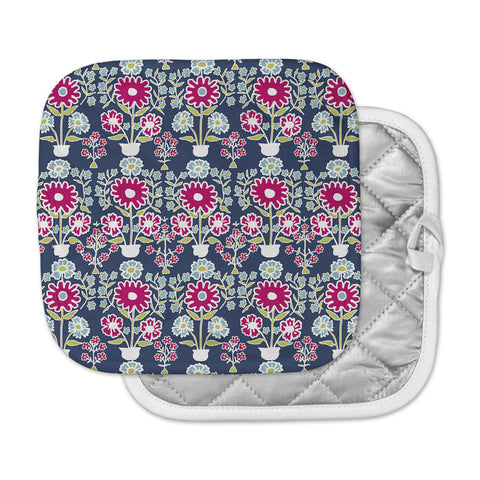 "Laura Nicholson ""Turkish Vase"" Navy Magenta Pot Holder"