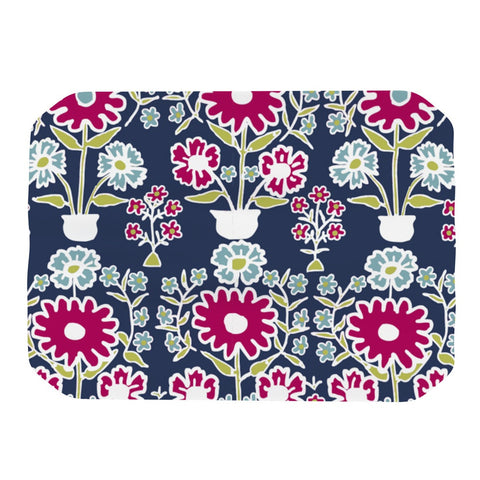 "Laura Nicholson ""Turkish Vase"" Navy Magenta Place Mat - KESS InHouse"