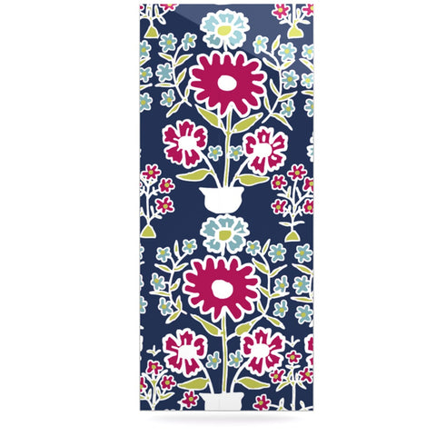"Laura Nicholson ""Turkish Vase"" Navy Magenta Luxe Rectangle Panel - KESS InHouse  - 1"