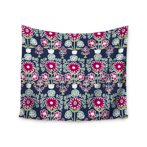 "Laura Nicholson ""Turkish Vase"" Navy Magenta Wall Tapestry - KESS InHouse  - 1"