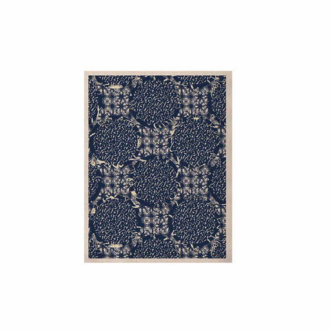 "Laura Nicholson ""Indigo Lattice"" Blue Pattern KESS Naturals Canvas (Frame not Included) - KESS InHouse  - 1"