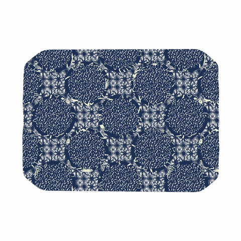 "Laura Nicholson ""Indigo Lattice"" Blue Pattern Place Mat - KESS InHouse"
