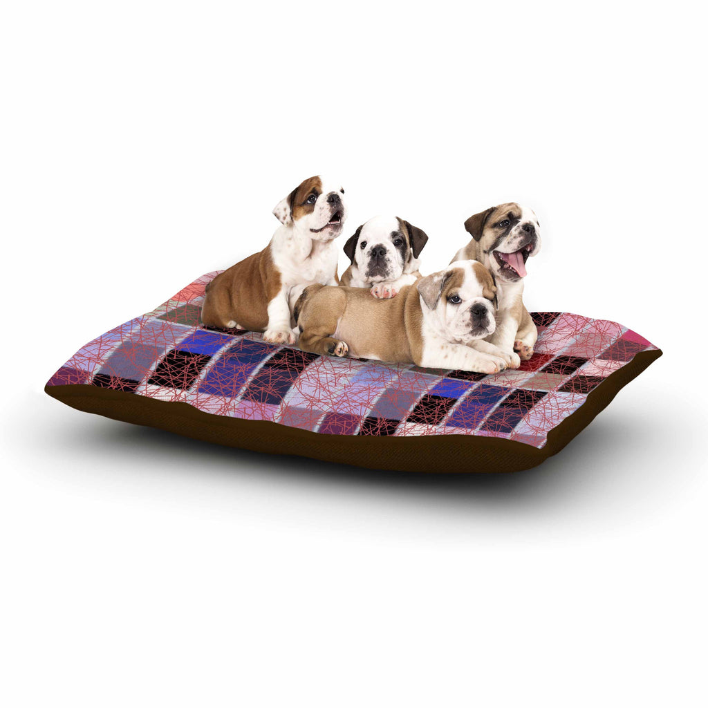 "Laura Nicholson ""Ruby Tiles"" Pink Red Dog Bed - KESS InHouse  - 1"