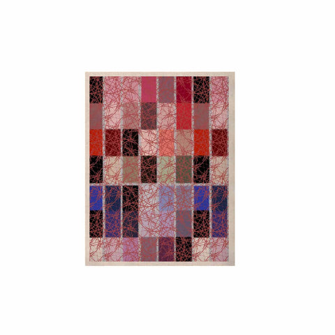 "Laura Nicholson ""Ruby Tiles"" Pink Red KESS Naturals Canvas (Frame not Included) - KESS InHouse  - 1"