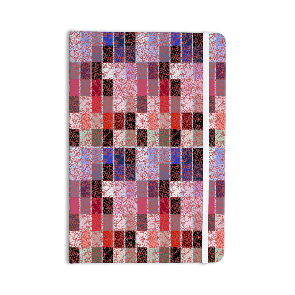 "Laura Nicholson ""Ruby Tiles"" Pink Red Everything Notebook - KESS InHouse  - 1"