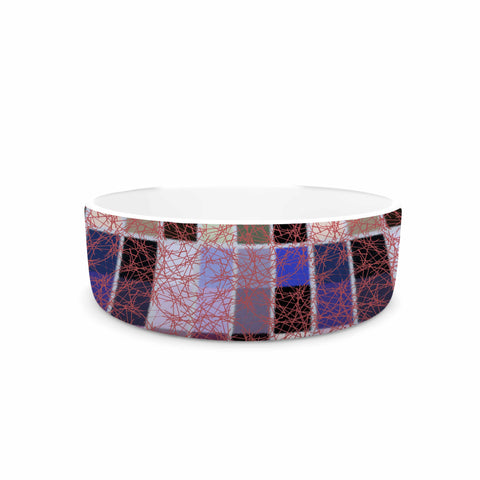 "Laura Nicholson ""Ruby Tiles"" Pink Red Pet Bowl - KESS InHouse"