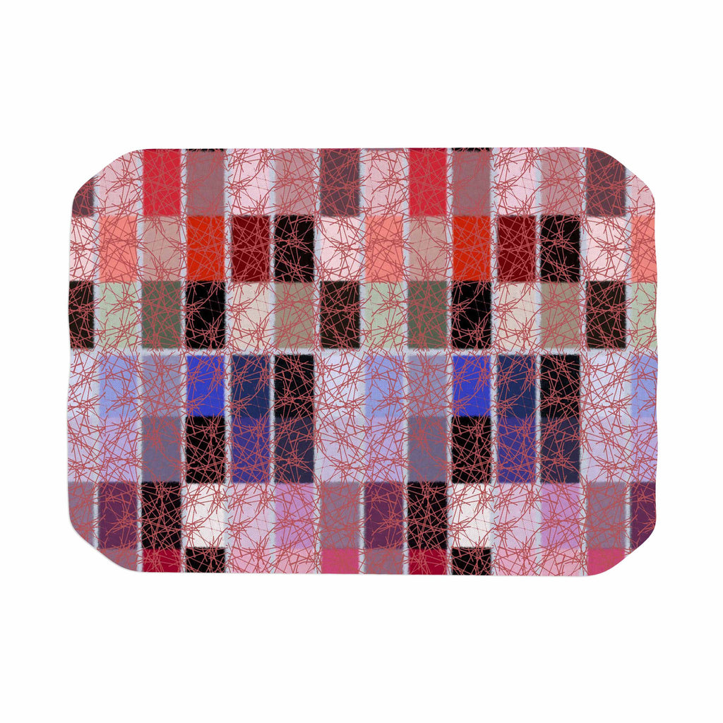 "Laura Nicholson ""Ruby Tiles"" Pink Red Place Mat - KESS InHouse"
