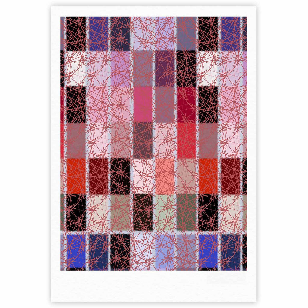 "Laura Nicholson ""Ruby Tiles"" Pink Red Fine Art Gallery Print - KESS InHouse"