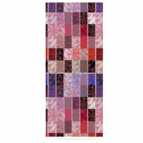 "Laura Nicholson ""Ruby Tiles"" Pink Red Luxe Rectangle Panel - KESS InHouse  - 1"