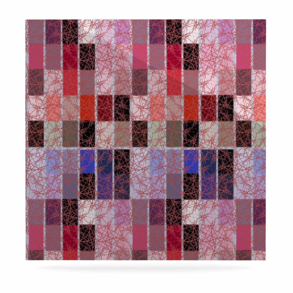 "Laura Nicholson ""Ruby Tiles"" Pink Red Luxe Square Panel - KESS InHouse  - 1"